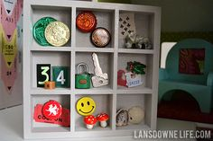 Dollhouse bookcase filled with miniature treasures — lansdownelife.com