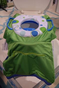 For moms afraid of germy public restrooms, Tottigo's Pack 'n Potty is a germaphobe's dream. The seat fits right into the portable bag, so hands never have to touch the toilet or the potty seat.