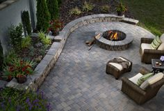 """Exceptional """"outdoor fire pit"""" information is readily available on our web pages. Have a look and you will not be sorry you did. Backyard Garden Design, Backyard Retreat, Fire Pit Backyard, Backyard Patio, Backyard Landscaping, Patio Design, Landscaping Ideas, Outdoor Fire, Outdoor Living"""