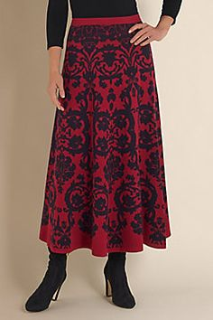 Women Jacobean Skirt red 18/20