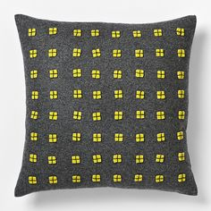 Felt Square Cushion Cover - Sun Yellow $29.95  |  west elm Australia