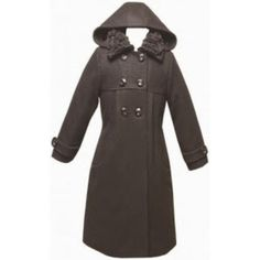 Angel Baby Girl black Wool-blend dressy coat jacket with thick lining inside size 5-6-7-8-9-10 /#6129  alternate image