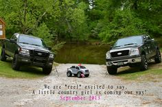 Our pregnancy announcement. Little country girl on the way!