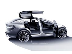 Tesla Model X Concept Drawing Tesla Motors is the automotive standard other car manufacturers follow for inspiration, innovation and sustainability. - LGMSports.com