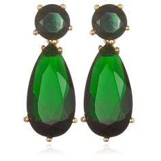 These gold over silver simulated emerald dangle earrings are a lovely addition to your day or evening wardrobe. Similar to a celebrity-style fashion, these drop earrings make a statement whenever you wear them.