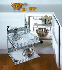 kitchen cabinets, make use of blind corner cabinet
