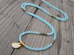 Faceted Amazonite Pyrite Gold Nuggets Long by DeetabyDesign, $68.00