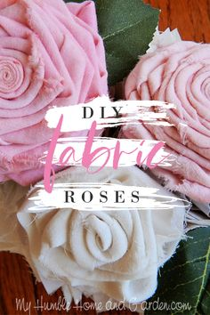 I've made hundreds of ribbon roses, this is the first time for this type of fabric rose. Use a low melt glue gun for these and they're easy to make! No sewing required. craft craft diy craft for kids craft no sew craft to sale Fabric Roses Diy, Easy Fabric Flowers, Diy Ribbon Flowers, Material Flowers, Fabric Flower Tutorial, Paper Flowers Diy, Handmade Flowers, Flower Crafts, Fabric Crafts
