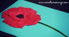 {Memorial Day Red Poppy Craft} A great post for Memorial Day with Kids. Includes key language (with a free printable), an art activity, listening exercise and much more.