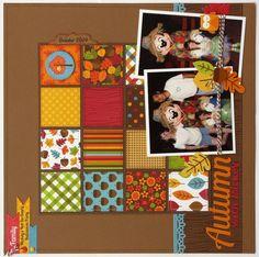 A Doodlebug Happy Harvest Disney Layout by Mendi Yoshikawa - Scrapbook.com