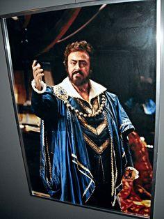 """Luciano Pavarotti as """"Riccardo"""" in """"Un ballo in maschera"""" by Giuseppe Verdi - Season 1994-1995 of San Carlo Theatre - """"MeMus""""=Memory and Music Museum - Royal San Carlo Theatre in Naples"""