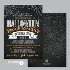 Halloween Spooktacular Party Invitation.  Perfect for this Year's Halloween party festivities!!