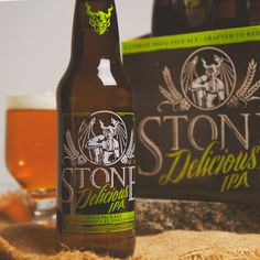 Introducing STONE DELICIOUS #IPA. It hits shelves starting today and is befitting its name. Find out why it's all that...and less on the STONE BLOG