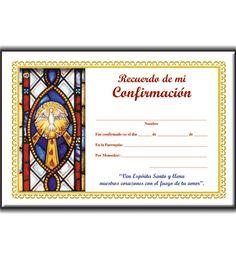 dibujos para tarjetas de confirmacion | Recuerdo de mi Confirmación (vitral 2), Ediciones San Pablo