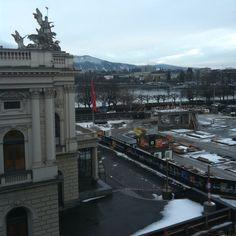 Blick aus Büro. 16.2.2012, 7:55 Uhr.
