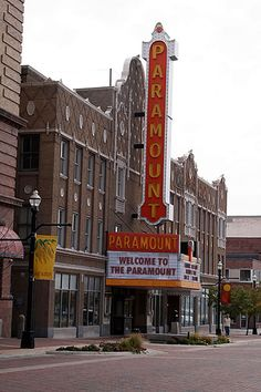 The historic Paramount Theatre in Anderson, Indiana.
