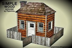 This is the Simple Wood House Paper Model, an easy-to-build model in two sheets of paper. It is perfect for Dioramas, Train Sets, RPG and . Cardboard Box Houses, Paper Houses, Putz Houses, Village Houses, Cabins In The Woods, House In The Woods, Paper Train, Pergamon Museum, Cottages By The Sea
