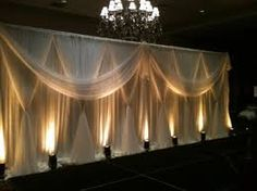 wholesale pipe and drape wedding stage backdrop decoration or trade show equipment Decoration Evenementielle, Reception Decorations, Event Decor, Event Ideas, Prom Decor, Wall Decorations, Ideas Party, Wedding Stage, Wedding Events