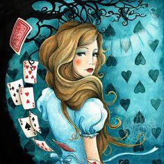 Alice from Alice in Wonderland  open edition by littleblackspot