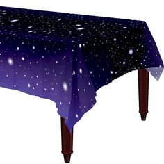 The Galaxy Table Cover features an allover design of twinkling stars. Set this reusable plastic table cover on top of your party table to protect it from crash landings and space debris. Space Party, Space Theme, Galaxy Theme, Galaxy Art, Galaxy Room, Constellations, Doctor Who Party, Galaxy Wedding, Kids Party Supplies