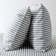 I love the Stripe Sheet Set - White/Feather Gray on westelm.com