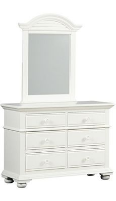 Havertys - Cottage Retreat ll Youth Dresser with Mirror