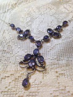 Vintage deep Amethyst necklace. by NemesisNYC on Etsy