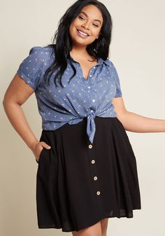 4b7516918aa84a ModCloth You Sassy Thing Skater Skirt Black | ModCloth Floral Skater Skirt, Black  Skater Skirts