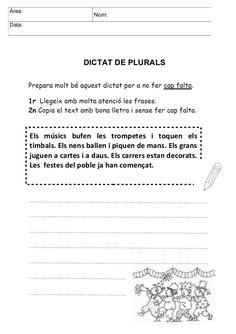 Dictats preparats by via slideshare Early Reading, Body Systems, Writing Activities, Language, Classroom, Good Things, Education, School, Creative Writing