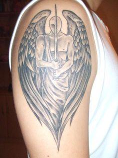 angel tattoo | Guardian Angel Tattoos