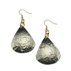 Amazon.com: John S Brana Hammered Aluminum Tear Drop Earrings: Jewelry
