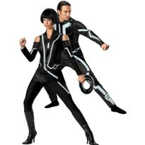 Deluxe Tron Legacy Couples Costumes #partycity #halloween  sc 1 st  Pinterest & Tron by Disguise Costumes | Disney | Pinterest | Costumes