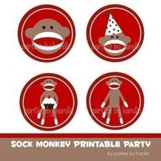 Sock monkey party ideas.