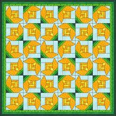 Patchwork patroon: Waterlelie 2