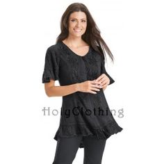 Rachelle Floral Embroidered Victorian Corset Ruffled Top Blouse - $ 35.99