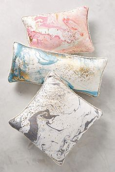 Dreamy Marbled Cosima Cushion from anthropologie!