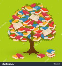 stock-vector-book-tree-on-green-background-136147808.jpg (1500×1600)