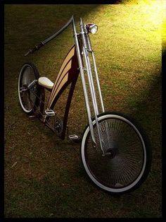 Cool chopper bike.