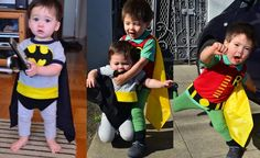 Batman and Robin plus some other really cute costumes