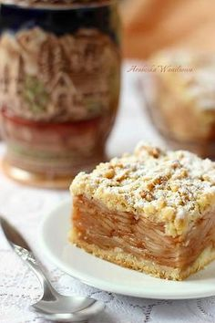 Arabeska : Szarlotka tatrzańska Polish Desserts, Polish Recipes, Polish Food, Lemon Loaf, Beautiful Desserts, Holiday Desserts, Cupcake Cakes, Food And Drink, Cooking Recipes