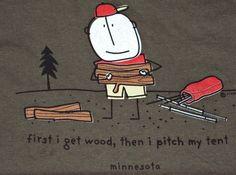 Mens 2XL Camping in Minnesota T Shirt