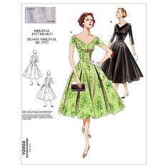 Mccall Pattern V2903 A (6-8-10)-Vogue Pattern