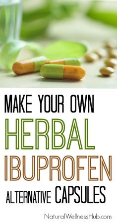 Make your own natural anti-inflammatory capsules with herbs