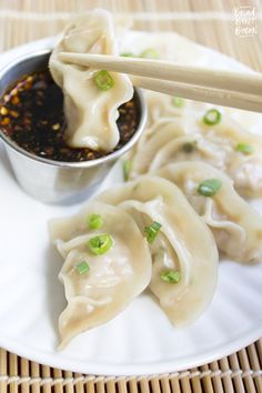 Jiaozi   Pork Dumplings are crazy easy to make and just as good as getting take out! Make a bunch and freeze some for later!