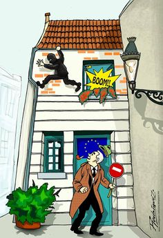 Bruxelles  Cartoon by Antonio Rodriguez Garcia, Mexico