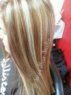 Sutle highlights @Toni's Hair Studio