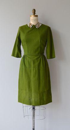 Clubview dress vintage 1950s dress wool 50s dress by DearGolden