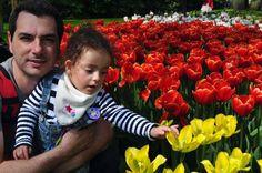 Keukenhof, na Holanda, Lisse - Se divertindo com as flores