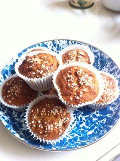 Twitter / Thanecooks: Banana coconut pecan muffins ...