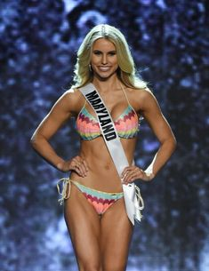 11fb9607aef92 Miss Maryland USA Christina Denny competes in the swimsuit competition  during the 2016 Miss USA pageant